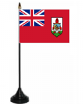 Bermuda Desk / Table Flag with plastic stand and base.